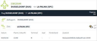 La Palma Wetter