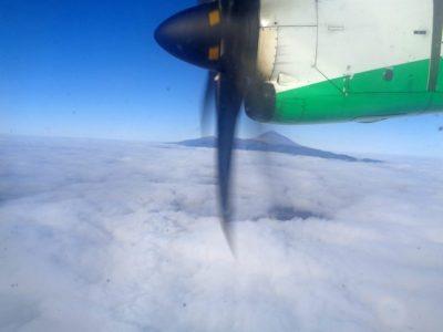 Vorbeiflug am Teide von Teneriffa