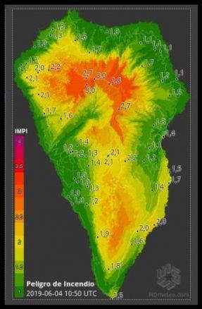 Brand-Risiko Karte - Waldbrandrisiko