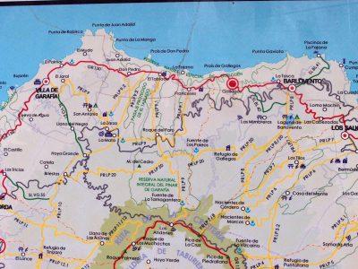 Landkarte - Gallegos