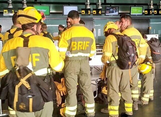 Flugplatz La Palma - Feuer auf Gran Canaria