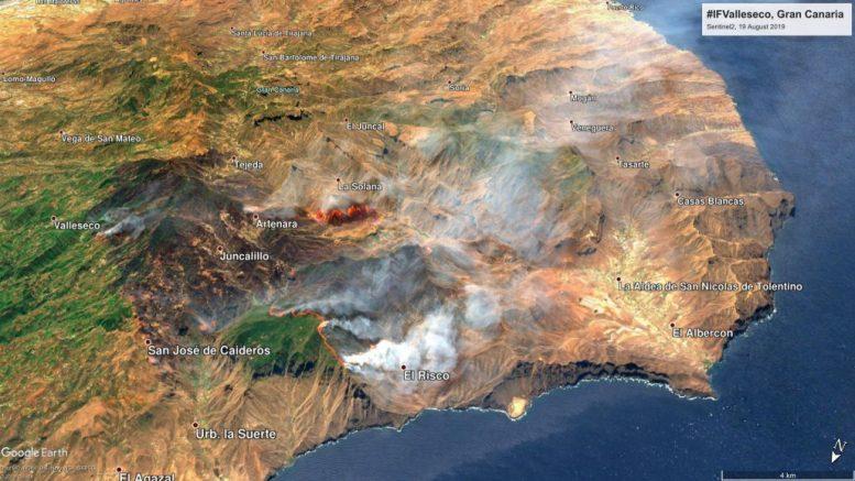 Brandgebiet Gran Canaria - Durchatmen