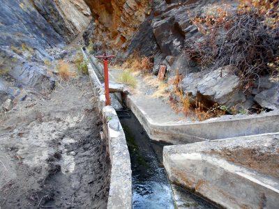 Wasserkanal in der Caldera de Taburiente