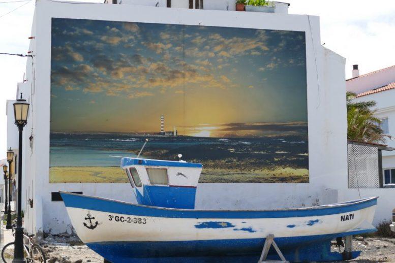 Wandbild und Boot