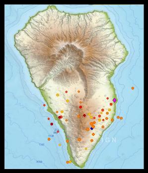 Bebenkarte - Vulkanische Seismik