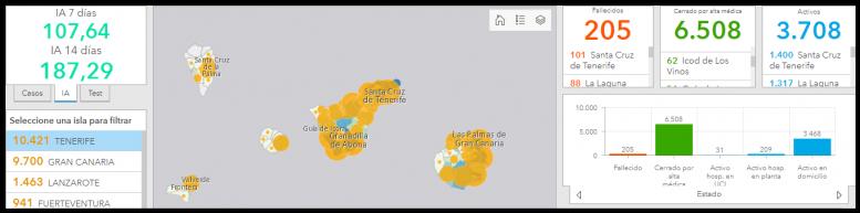 Teneriffa Karte - Corona-Ausbruch