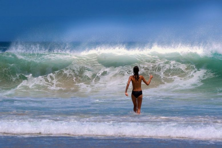 Meeresstrand - Schutzmaskenpflicht