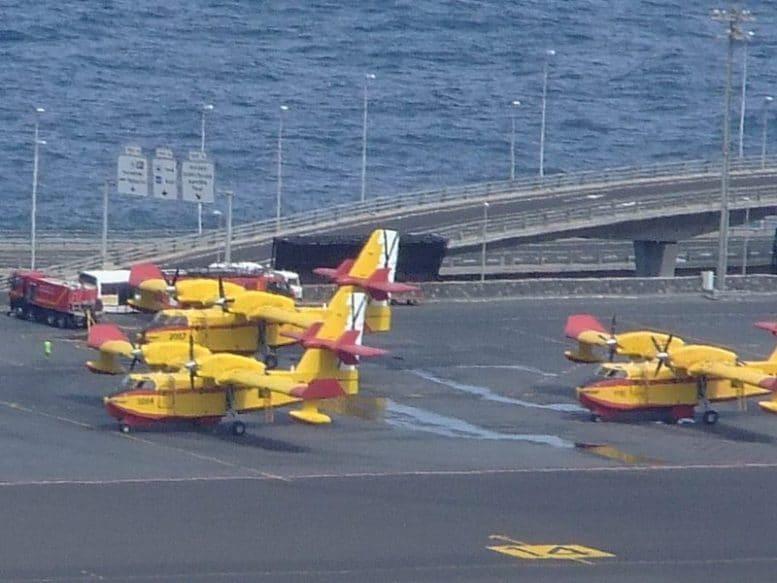 Löschflugzeuge - Gefahrenstufe für Waldbrand