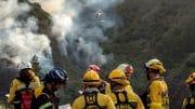 Löschzug - Gefahrenstufe für Waldbrand