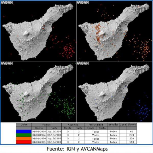 Erdbebengrafik - El Hierro Vulkan