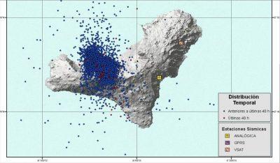 Erdbebenkarte - El Hierro Vulkan
