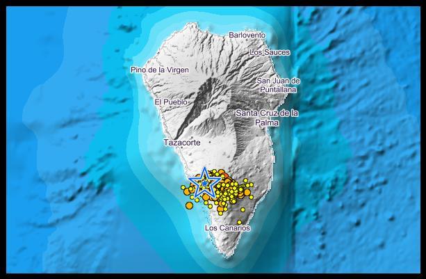 La Palma - stärksten Erdstoß