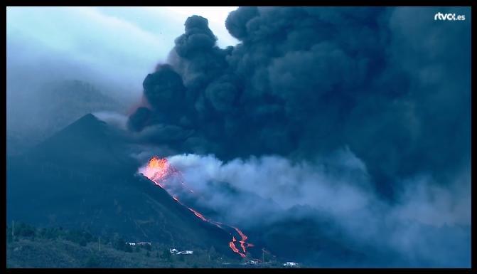 Vulkankegel - Vulkanlava
